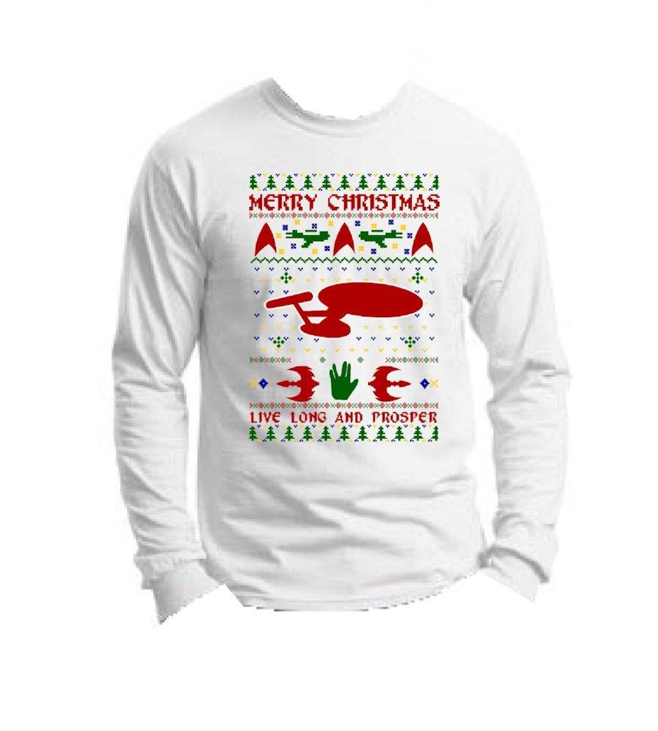 Star Trek T-Shirt Masquerading as a Christmas Sweater