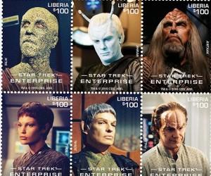 Star Trek: Enterprise Stamps from Liberia