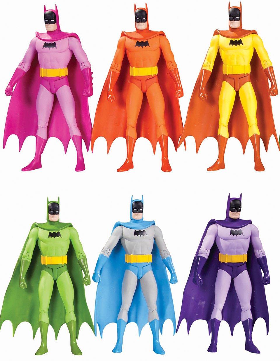 DC Collectibles Batman Rainbow Action Figure Six Pack