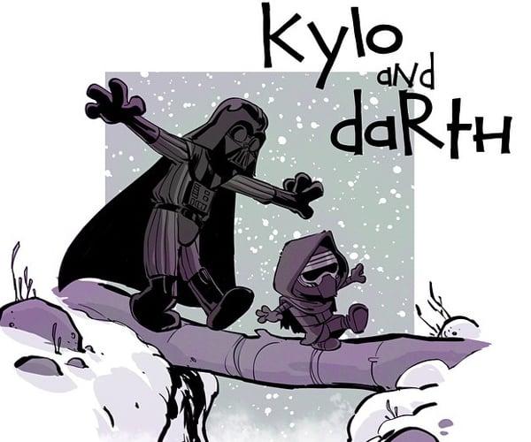 Star Wars: The Force Awakens x Calvin & Hobbes Fan Art