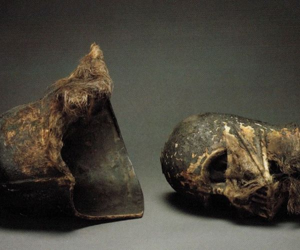 The Real Darth Vader Melted Helmet from Return of the Jedi