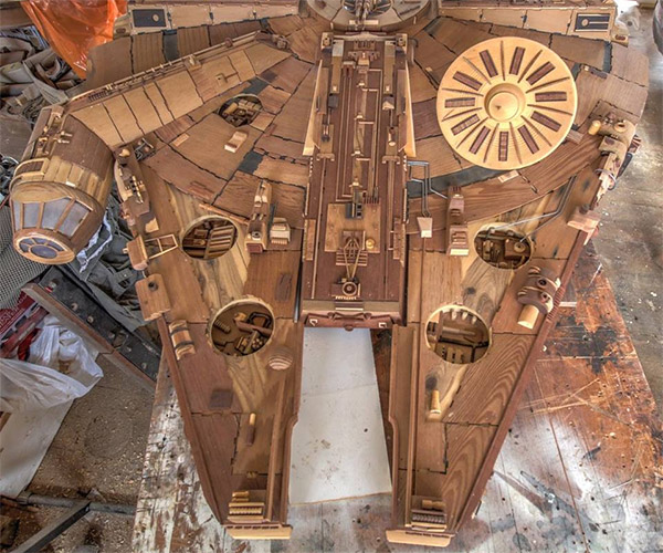 Amazing Wood Replicas of Science Fiction Ships