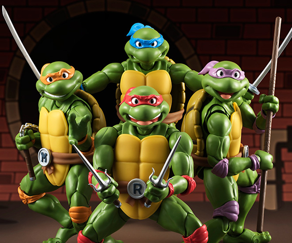 S.H. Figuarts TMNT Classic Animated Series Action Figures