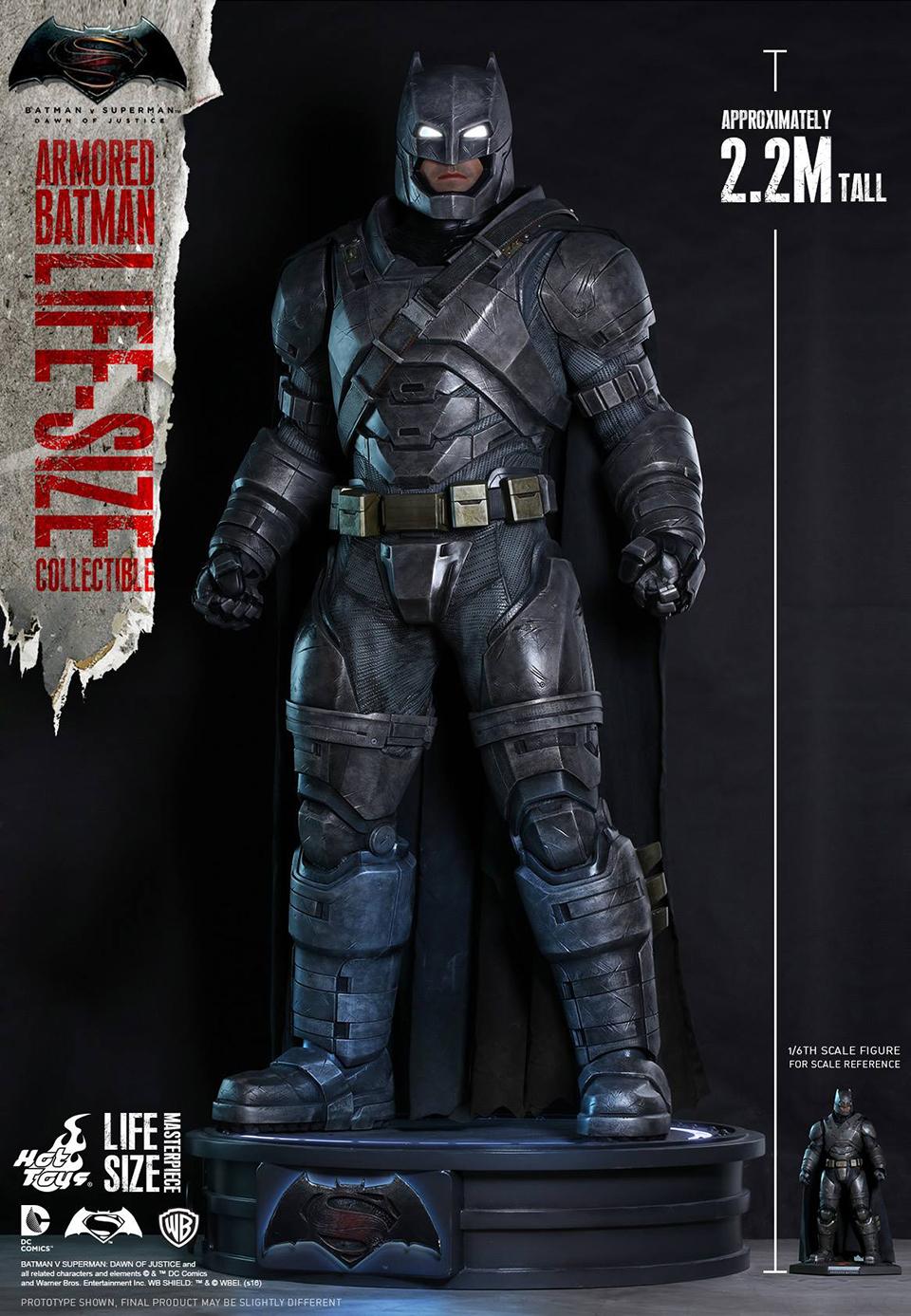 Hot Toys BvS Armored Batman Life-size Statue