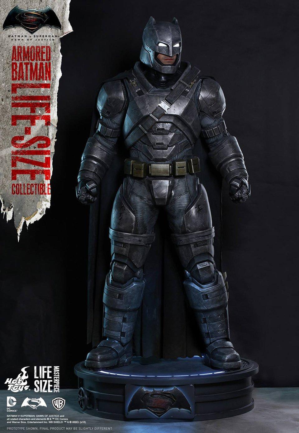 hot toys bvs armored batman lifesize statue mightymega
