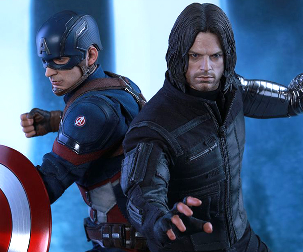 Hot Toys Civil War Capt. America & Winter Soldier Sixth Scale Figures
