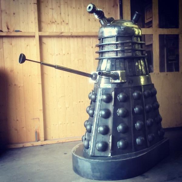 Dalek Wood Burner Exterminates the Cold