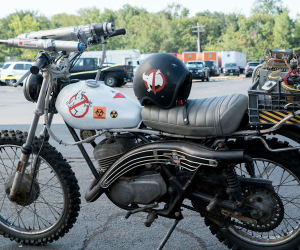 The Ecto-2 Motorcycle from the New Ghostbusters