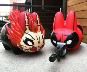 Kidrobot Deadpool & Ghost Rider Labbit Figures