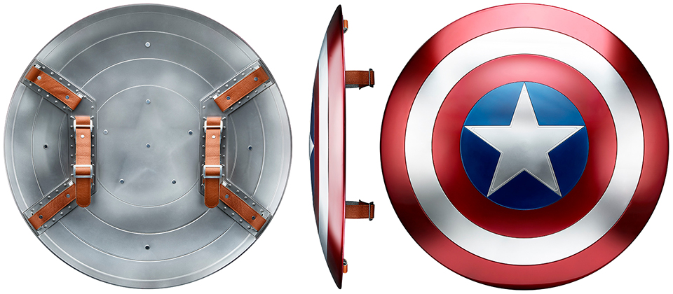 Hasbro Marvel Legends Life-size Iron Man Helmet & Capt. America Shield