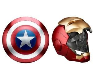 Hasbro Marvel Legends Life-size Iron Man Helmet & Capt. America Shield