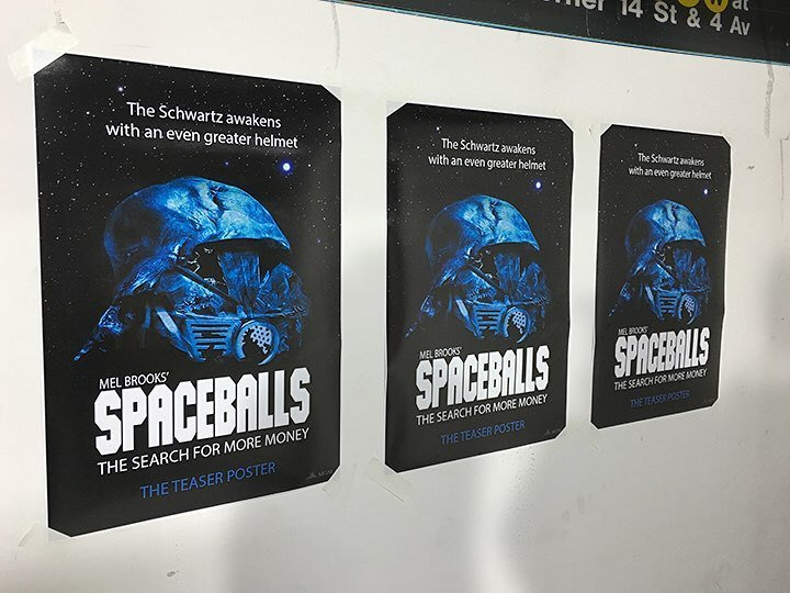 Spaceballs 2 Teaser Posters Appear in NYC Subways