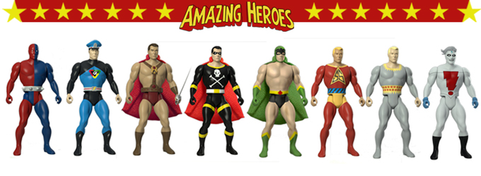 Fresh Monkey Fiction Amazing Heroes Wave 1 Action Figures