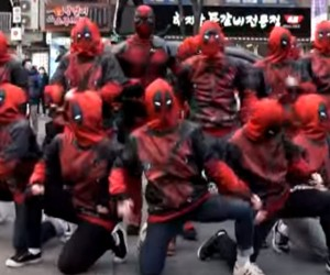Deadpool Flash Mob Dances in the Streets