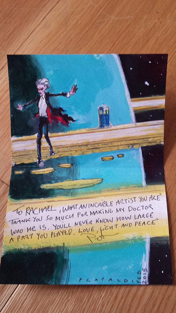 Peter Capaldi Draws Doctor Who Fan Art