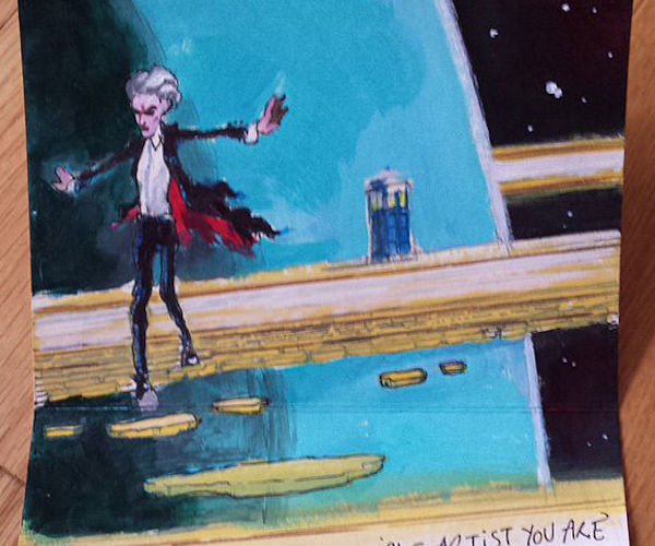 Peter Capaldi Draws Doctor Who Fan Art