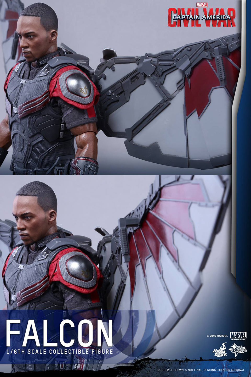 Learn How To Draw Falcon From Captain America Civil War: Hot Toys Civil War Falcon Sixth Scale Action Figure