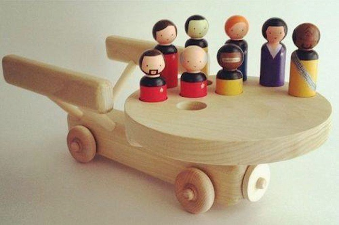 Wood Star Trek Toy for The Next Generation