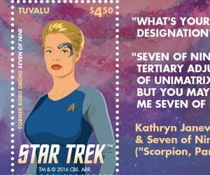 The Women of Star Trek Postage Stamps