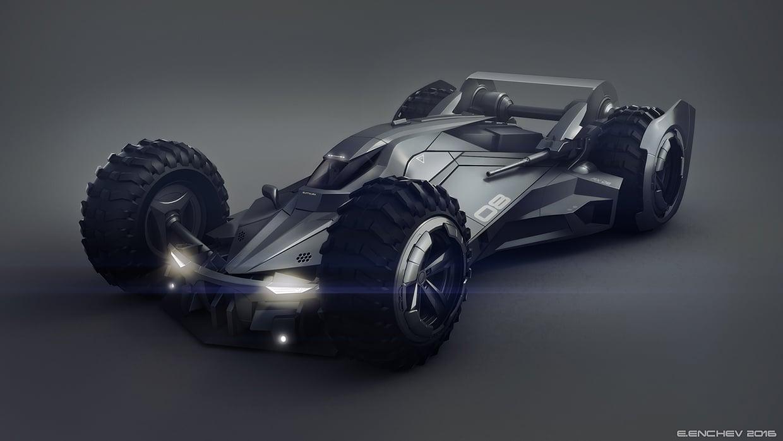 Futuristic Batmobile Concept Design Mightymega