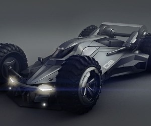 Futuristic Batmobile Concept Design