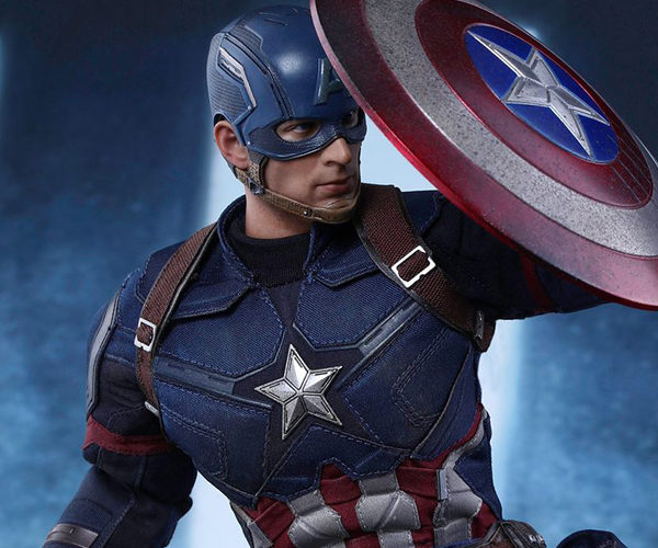 Hot Toys Civil War Capt. America Battling Version Action Figure