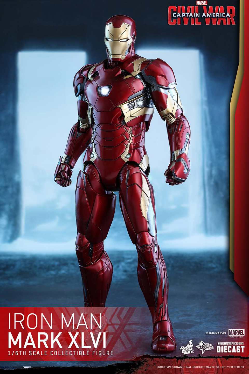 Hot Toys Civil War Iron Man Mk XLVI 1/6 Scale Diecast Action Figure