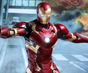 Hot Toys Civil War Iron Man Mk XLVI 1/6 Scale Diecast Action Figure