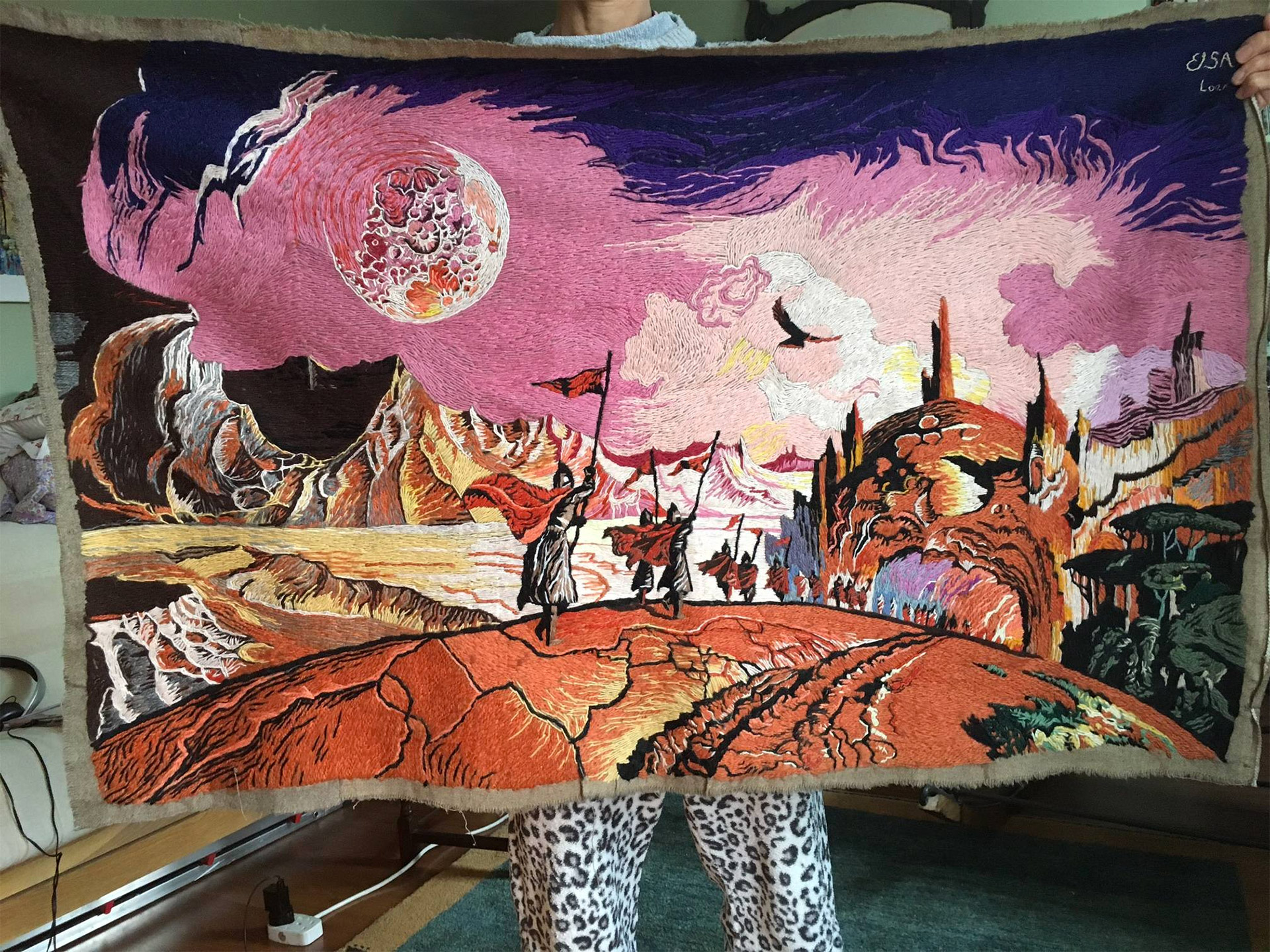 Woman Stitches Amazing Scenes from Dune