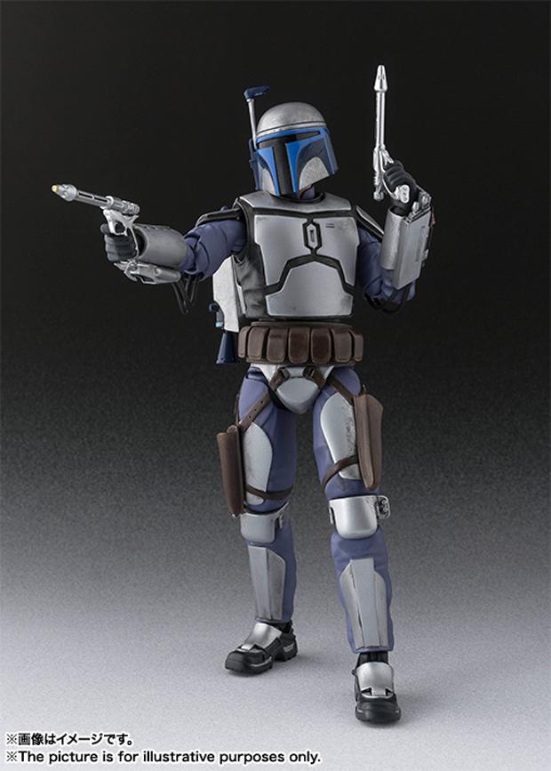 Star Wars Jango Fett Action Figure: SH Figuarts Attack Of The Clones Jango Fett Action Figure