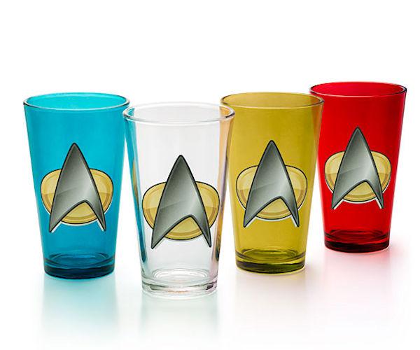 Star Trek TNG Insignia Pint Glasses