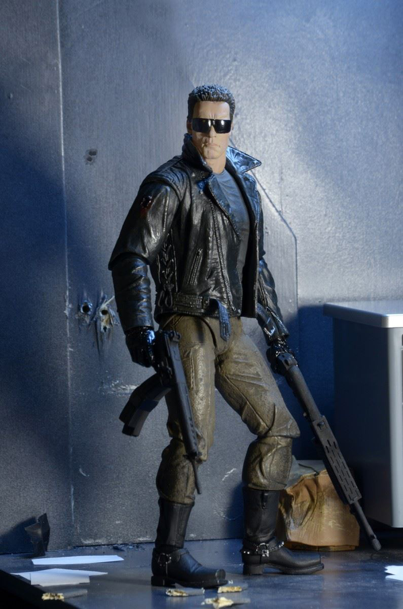 NECA Terminator Police Station Assault T-800 Action Figure