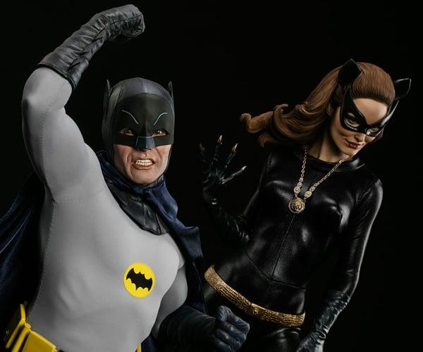 Sideshow '60s Batman & Catwoman Premium Format Figures