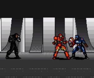 Retro Video Game Trailer for Captain America: Civil War