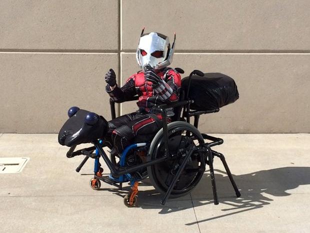 Ant-Man and Antony Wheelchair Cosplay