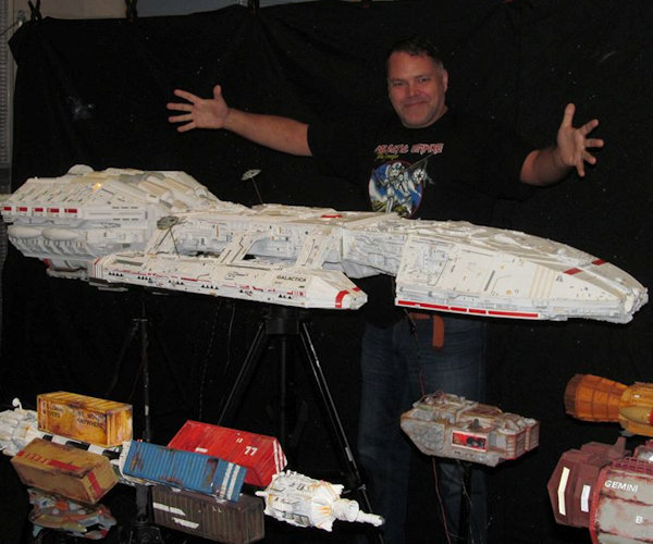 This Homemade Battlestar Galactica Fleet Is Awesome