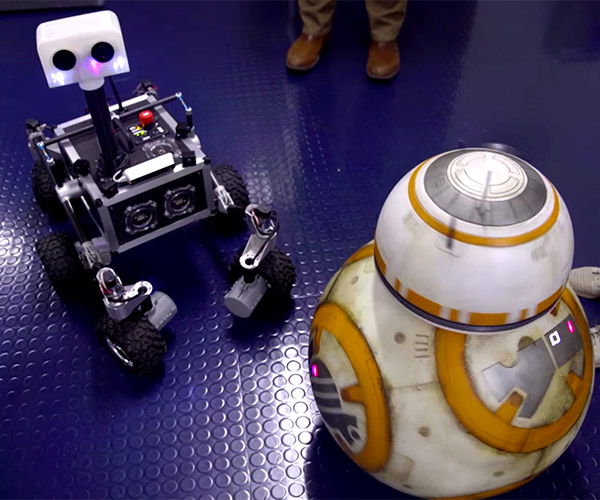 BB-8 Visits His Robot Cousins at NASA