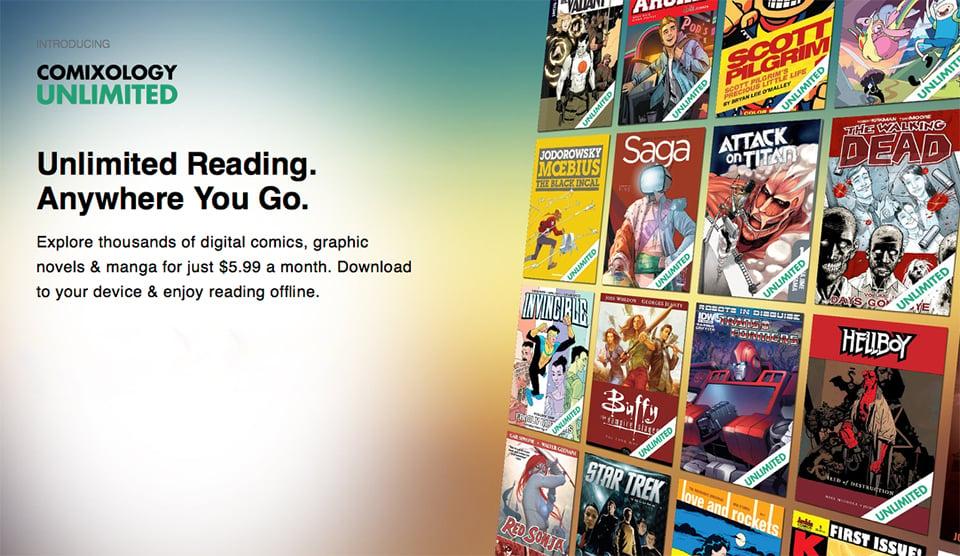 ComiXology Unlimited Digital Comic Book Subscription Service