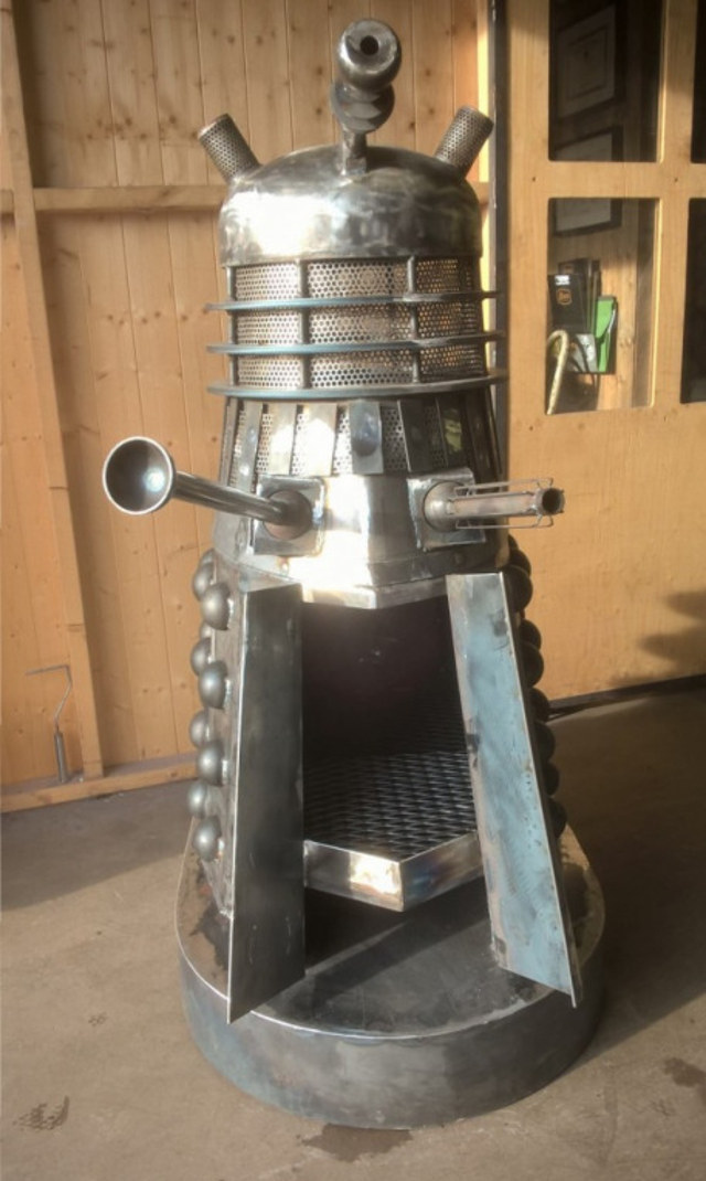 Doctor Who Dalek Fire Pit Incinerate Mightymega