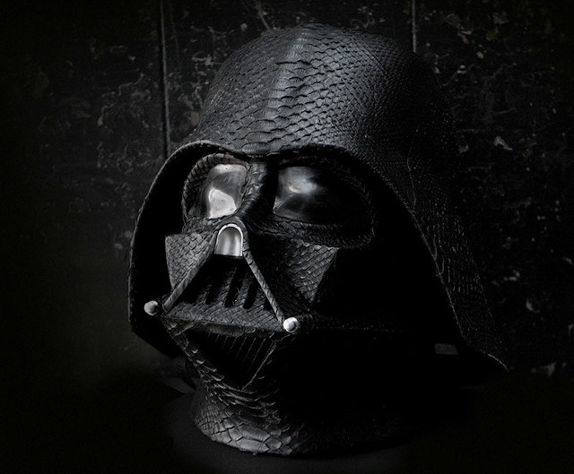 This Darth Vader Helmet Is Covered In Python Skin
