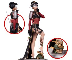 DC Comics Bombshells Katana Statue, New Busts & Book