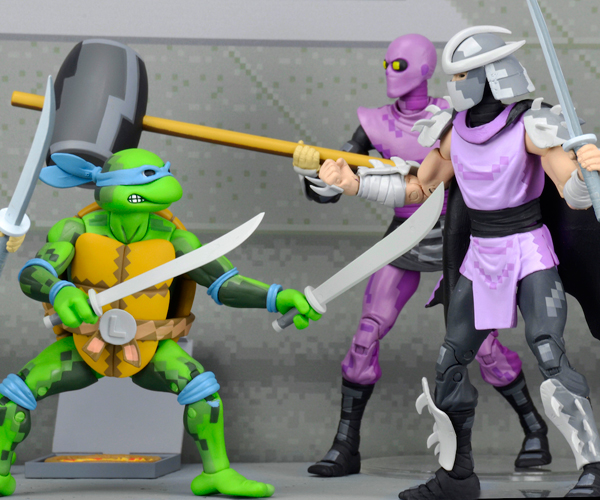 NECA SDCC Exclusive TMNT & Foot Clan Arcade Box Sets