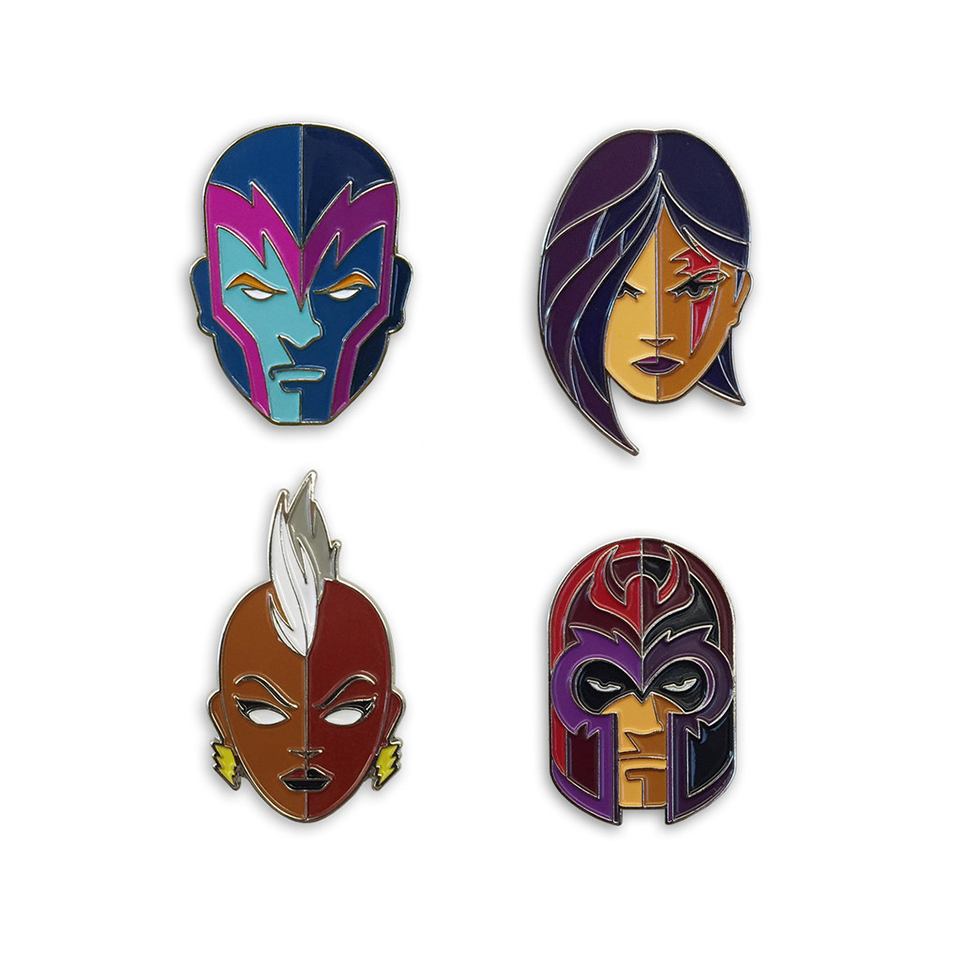 Mondo X-Men Four Horsemen Enamel Pins