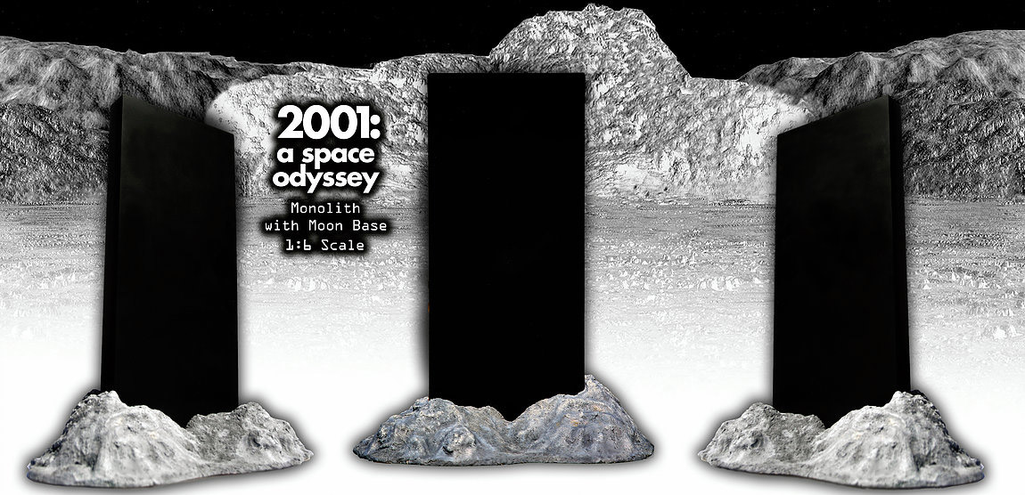 1:6 Scale Moon Monolith from 2001: A Space Odyssey