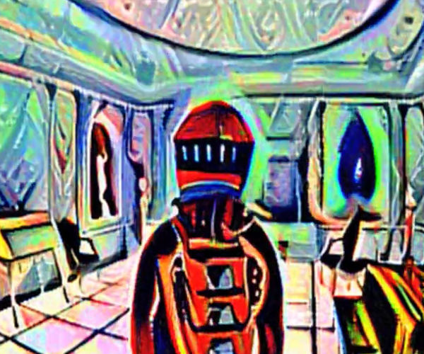 Stanley Kubrick's 2001: A Space Odyssey in the Style of Picasso