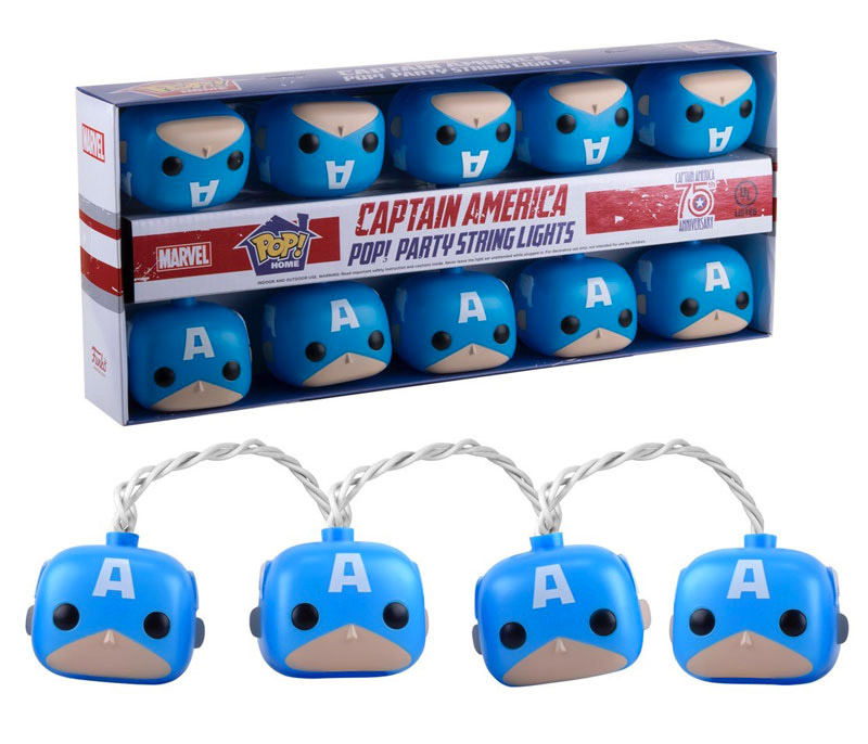 Captain America Party String Lights