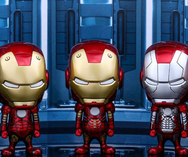 Hot Toys Iron Man Mark I to VII Cosbaby Figures