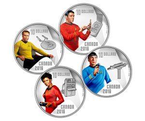 Star Trek 50th Anniversary Canadian Coins
