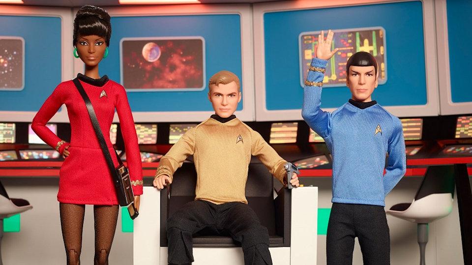 Star Trek 50th Anniversary Barbie Dolls