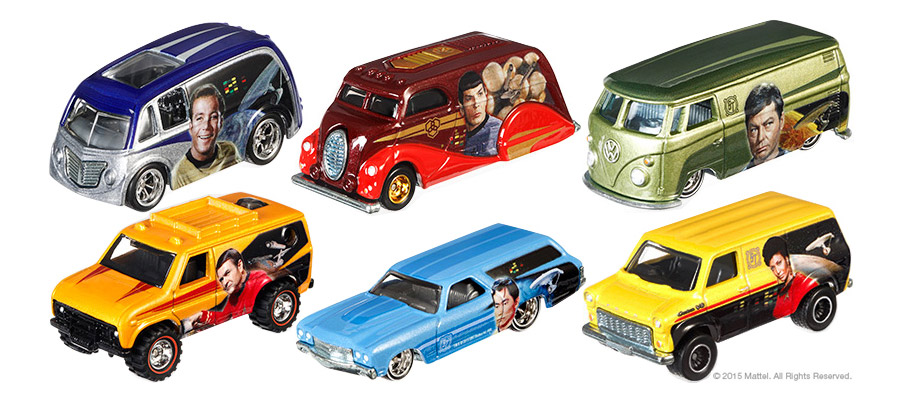 Star Trek 50th Anniversary Hot Wheels Cars